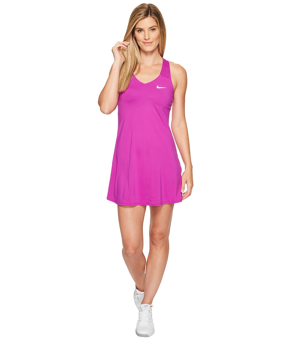 Nike - Court Dry Tennis Dress (Vivid Purple/White) Women's Dress