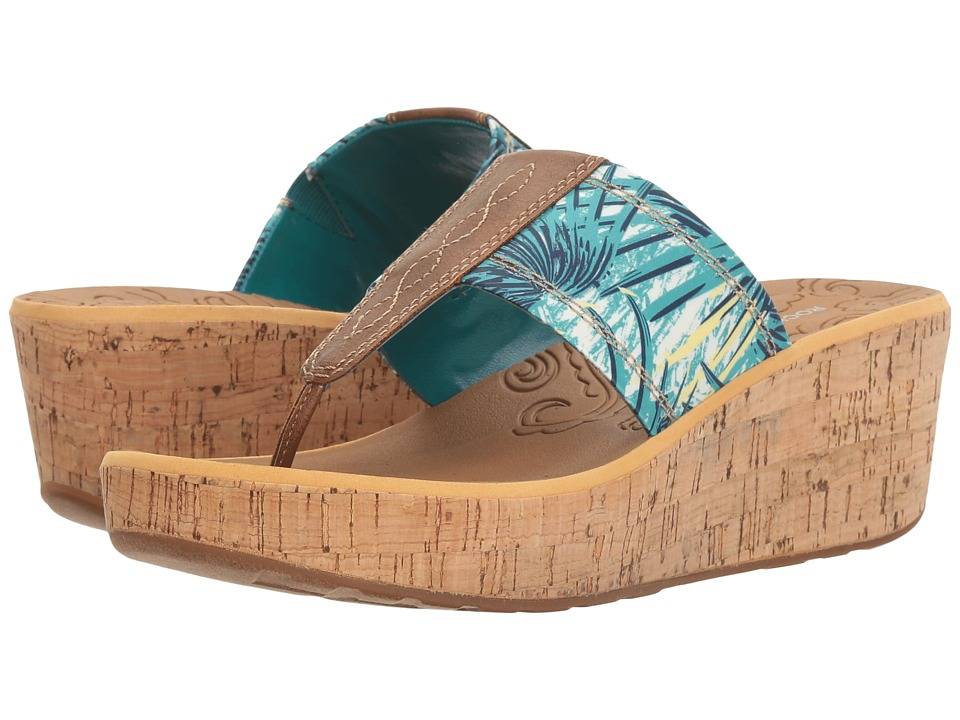 Rockport - Lanea Thong (Teal Floral) Women's Shoes