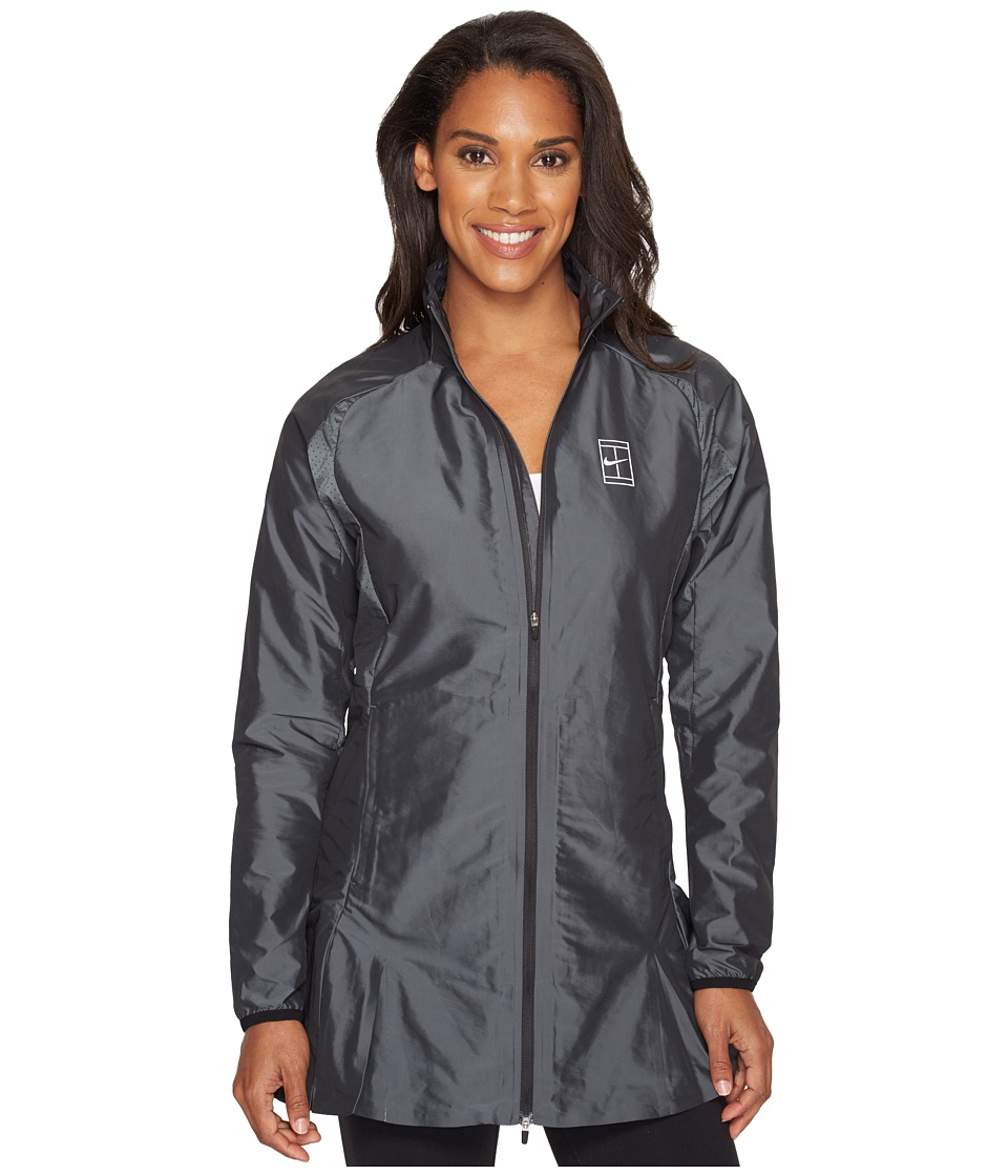Nike - Court Woven Tennis Jacket (Black/White) Women's Coat