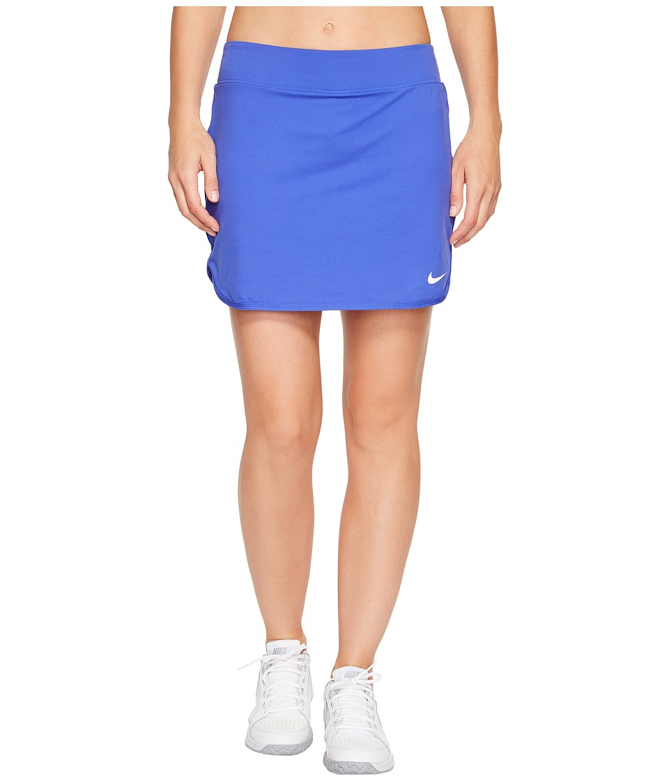 Nike Court Pure 17 Tennis Skirt (Paramount Blue/White) Women