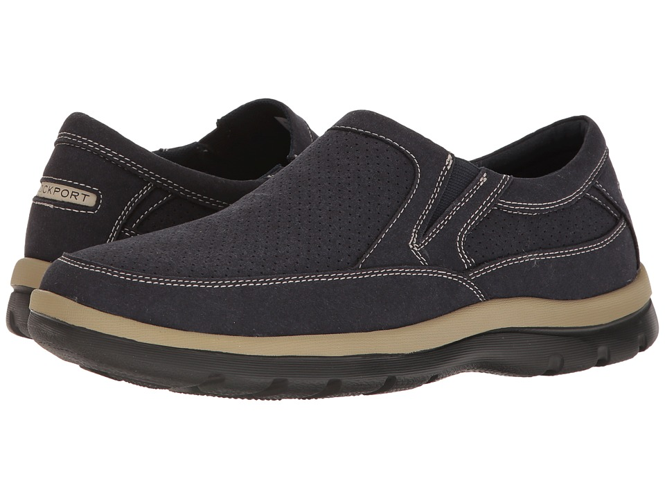 Rockport - Get Your Kicks Perfed Slip-On (Navy) Men's Shoes