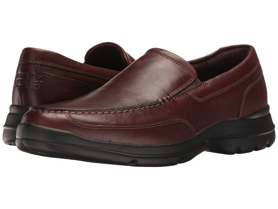 Rockport - Junction Point Slip-On (Chocolate) Men's Shoes