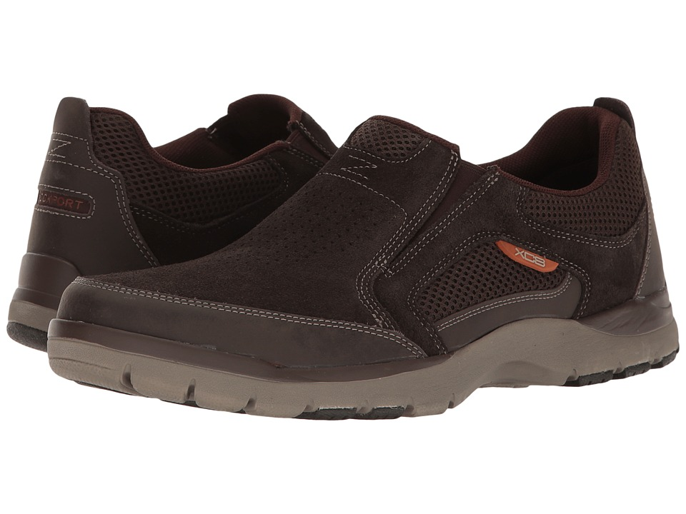 Rockport - Kingstin Slip-On (Brown) Men's Shoes