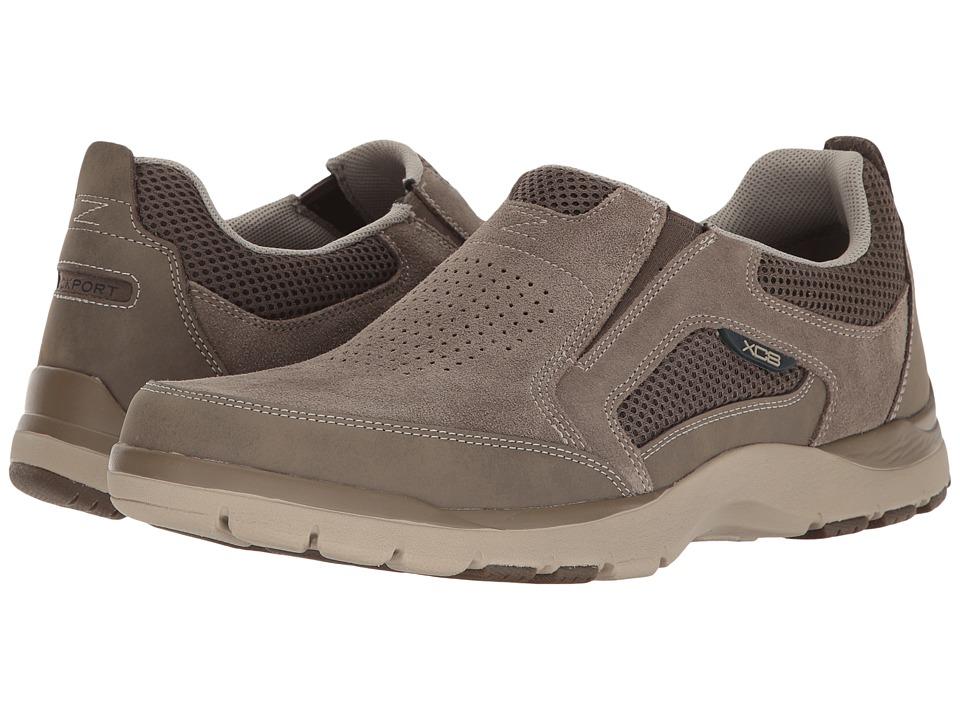 Rockport - Kingstin Slip-On (Stone) Men's Shoes