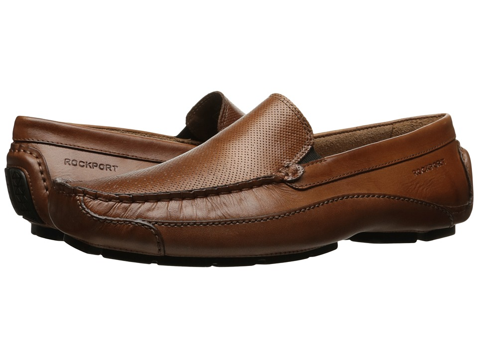 Rockport - Luxury Cruise Perf Venetian (Tan Leather) Men's Shoes