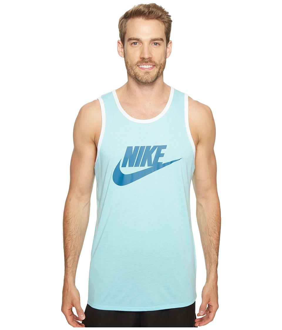 Nike Ace Logo Tank Top (Still Blue/White/Industrial Blue) Men