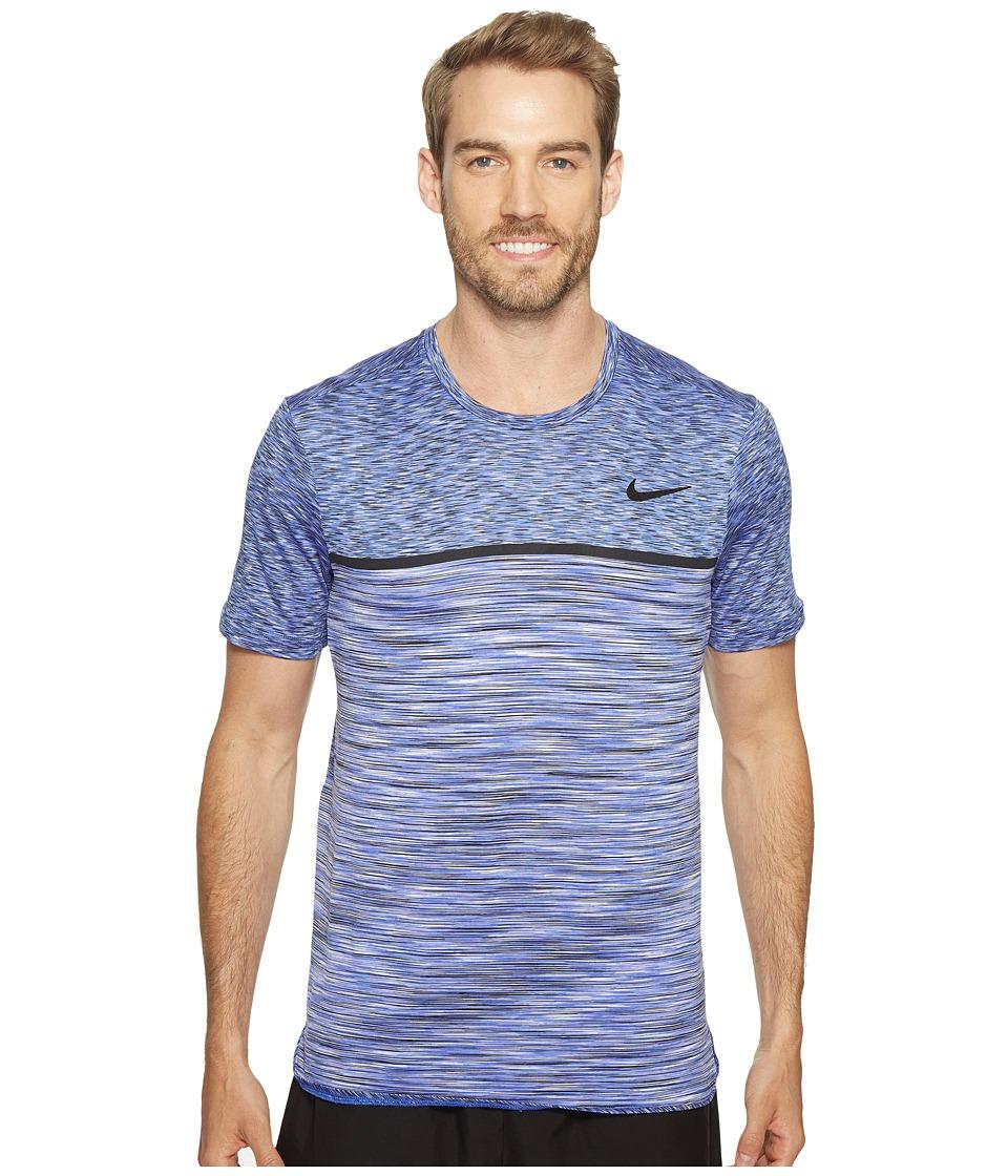 Nike - Court Dry Challenger Short Sleeve Tennis Top (Paramount Blue/Black) Men's Clothing