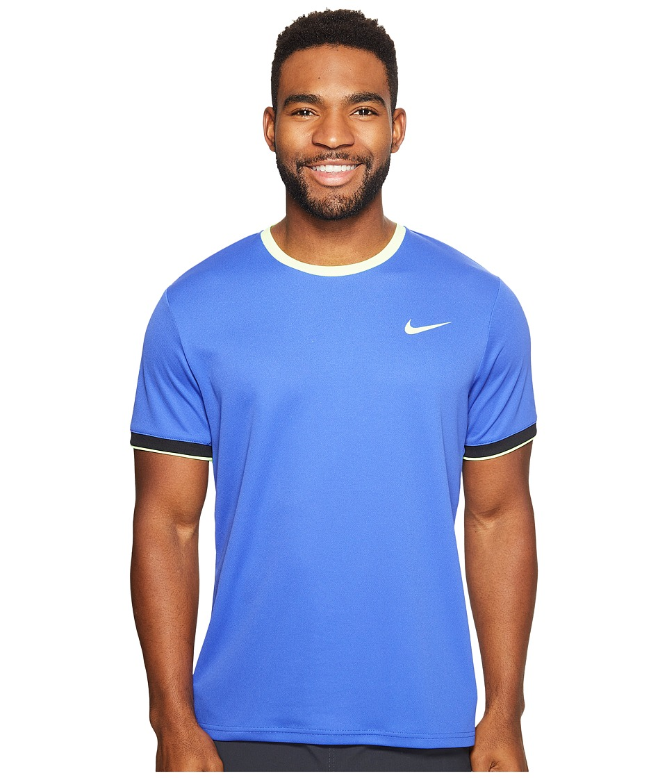 Nike - Court Dry Team Crew (Paramount Blue/Ghost Green/Ghost Green) Men's Clothing