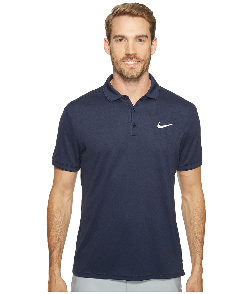 Nike - Court Dry Tennis Polo (Obsidian/Obsidian/Obsidian/White) Men's Clothing