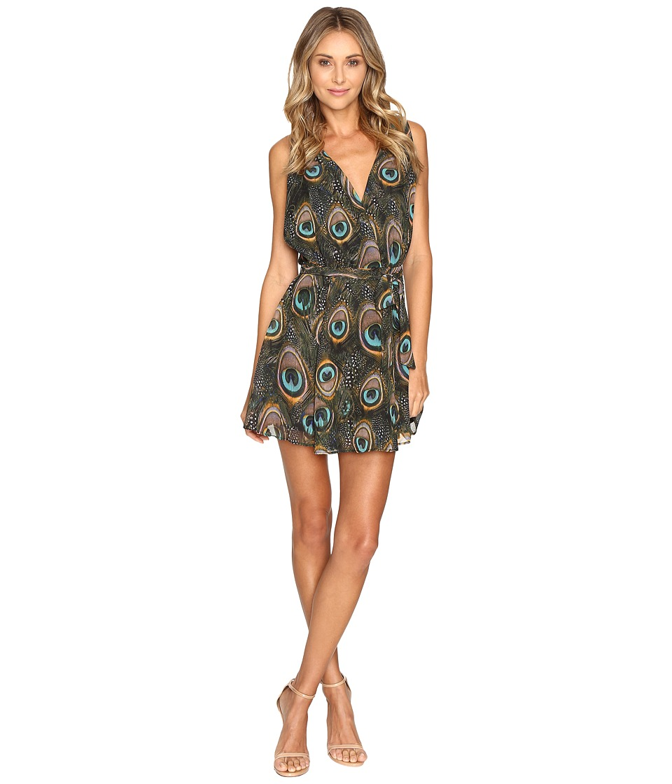 Show Me Your Mumu Corinne Crossover Dress (Feather Fans) Women