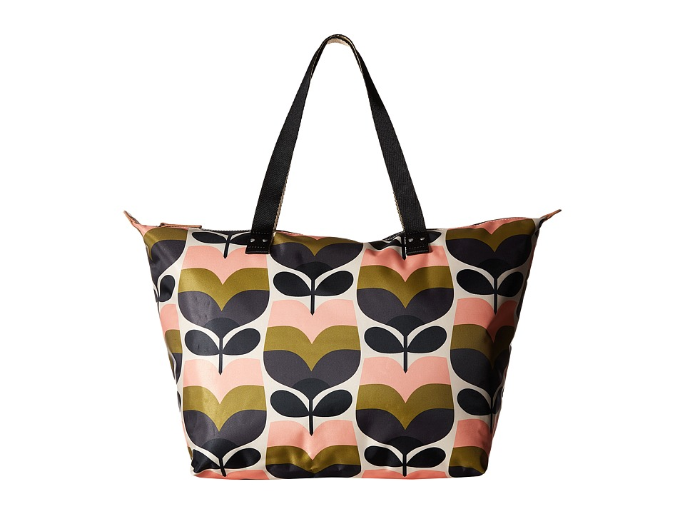Orla Kiely - Stripe Rosebud Zip Shopper (Multi) Handbags