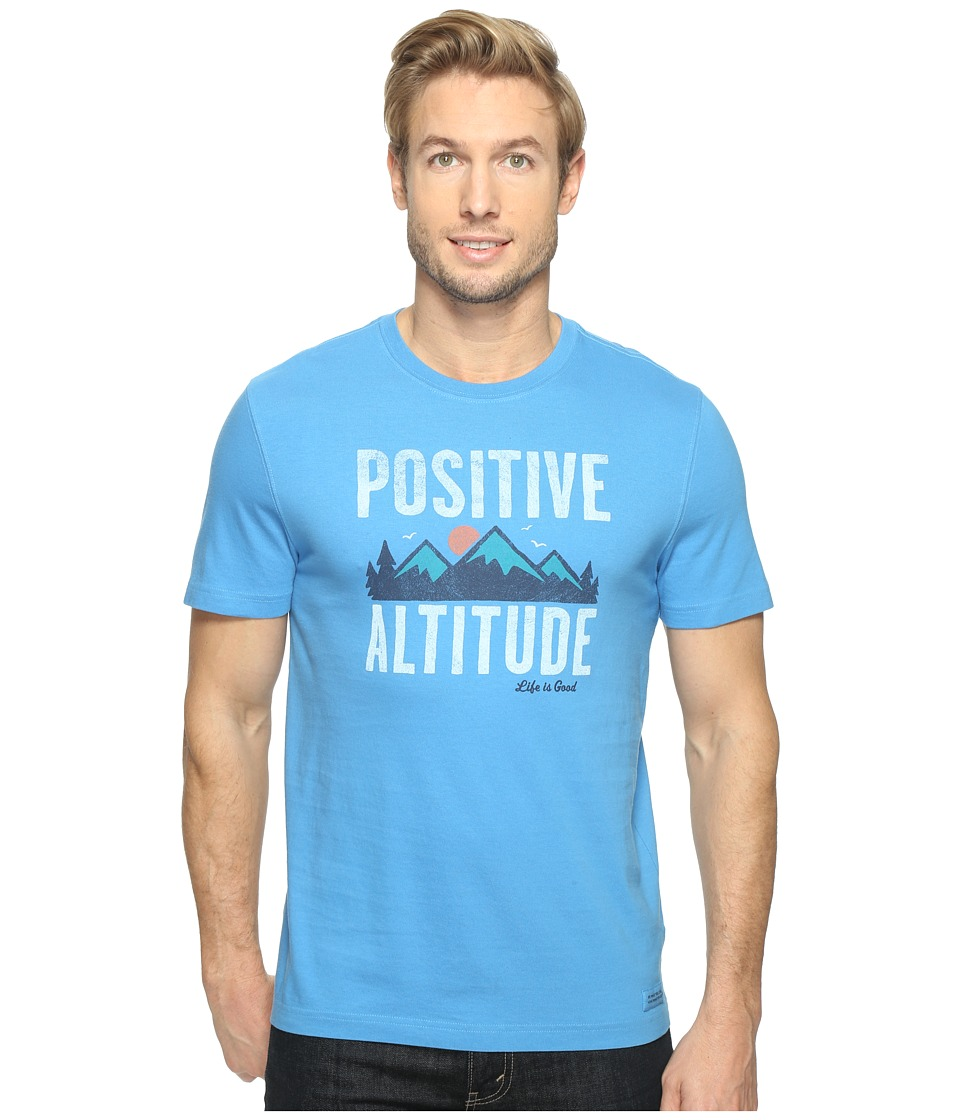 Life is Good - Positive Altitude Crusher Tee (Marina Blue) Men's T Shirt