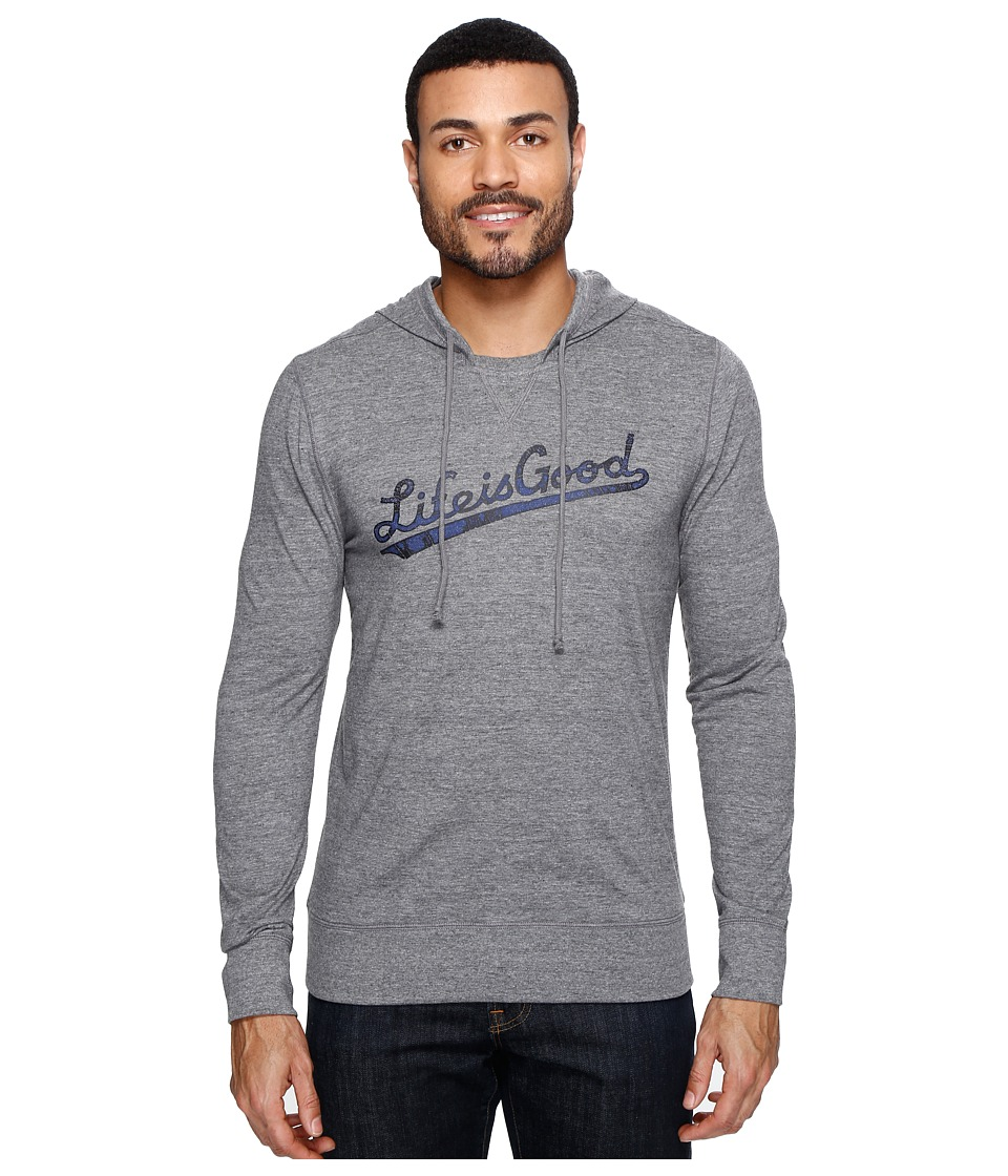 Life is good - Life is Good Ultimate Hoodie Tee (Heather Gray) Men's Sweatshirt