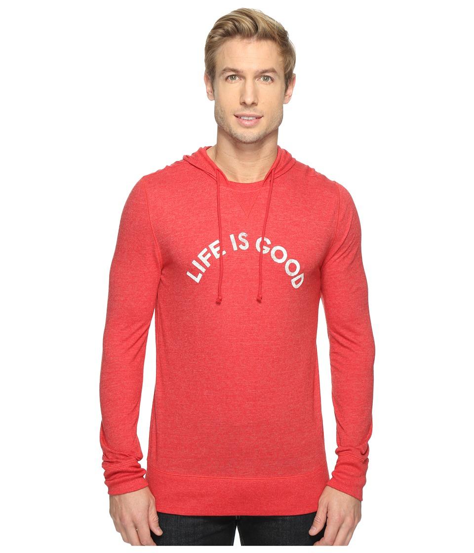 Life is Good - Life is Good(r) Ultimate Hoodie Tee (Americana Red) Men's Sweatshirt