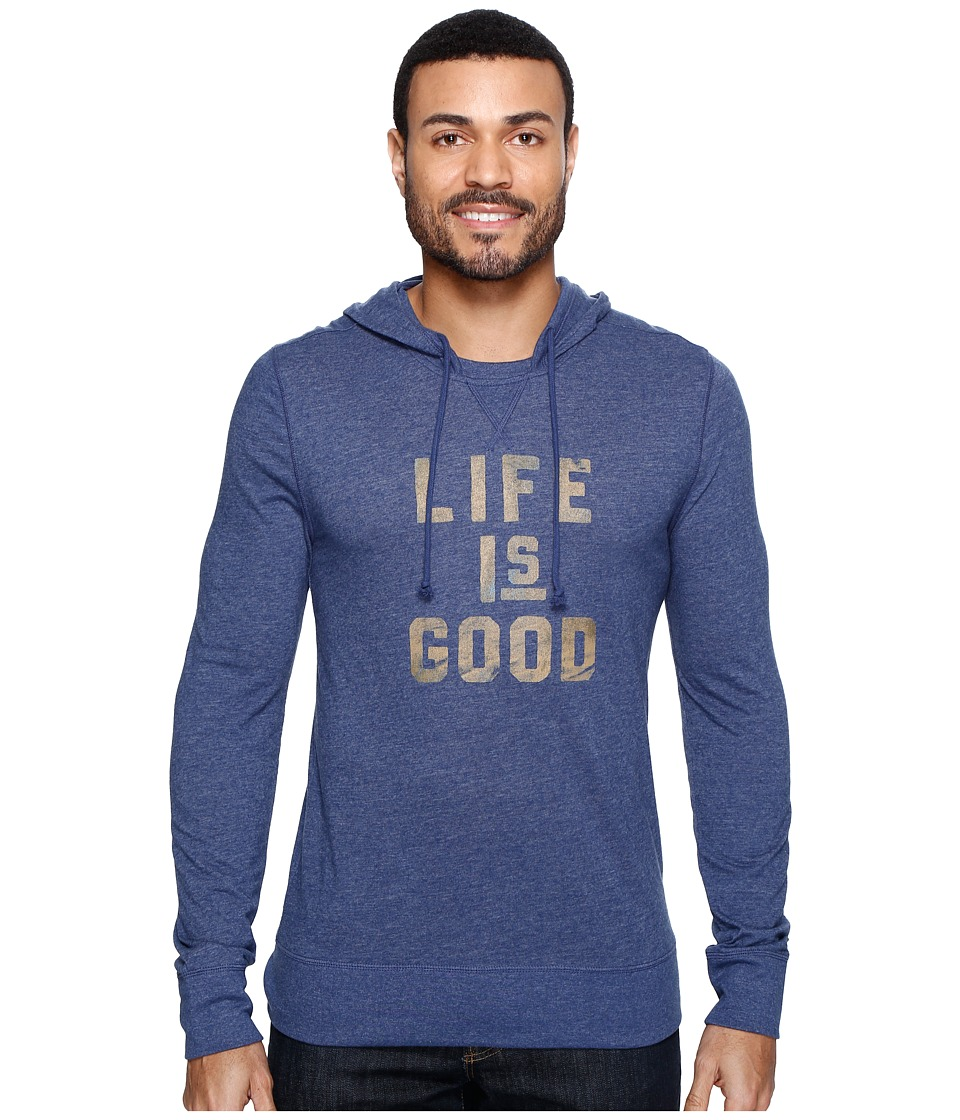 Life is good - Life is Good Ultimate Hoodie Tee (Darkest Blue) Men's Sweatshirt