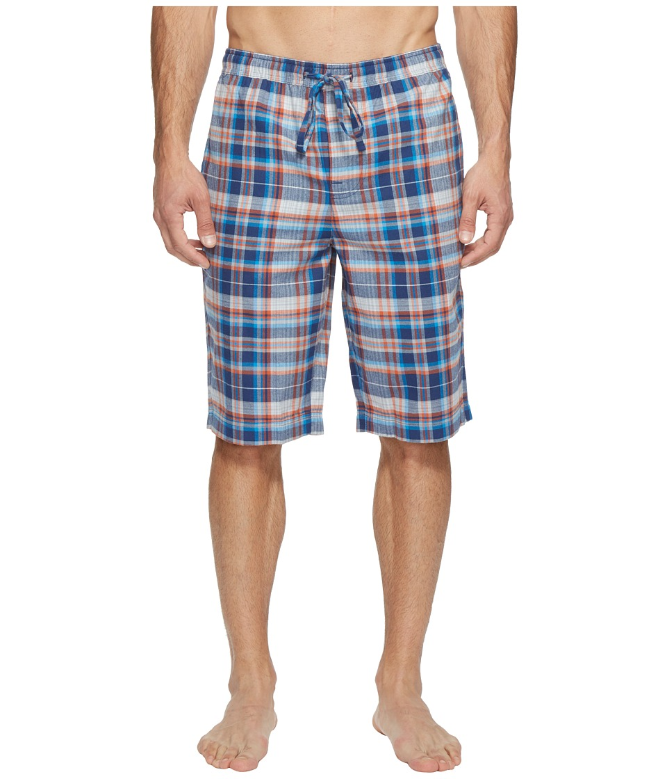 Life is Good - Plaid Sleep Short (Darkest Blue) Men's Pajama