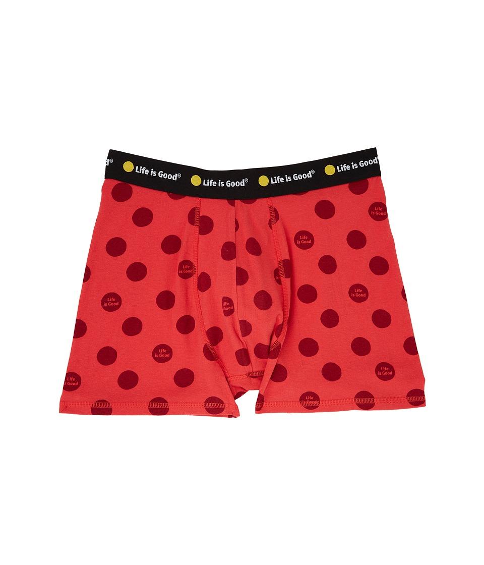 Life is Good - Anchor Boxer Brief (Deep Orange) Men's Underwear