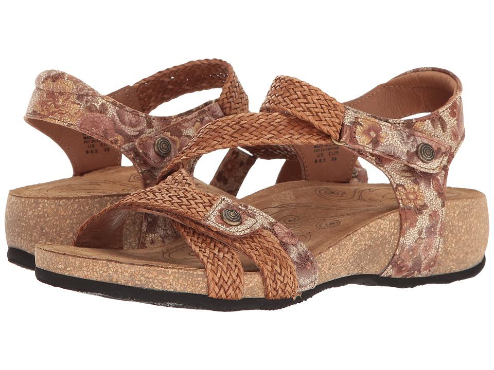 Taos Footwear Trulie (Tan Floral Multi) Women