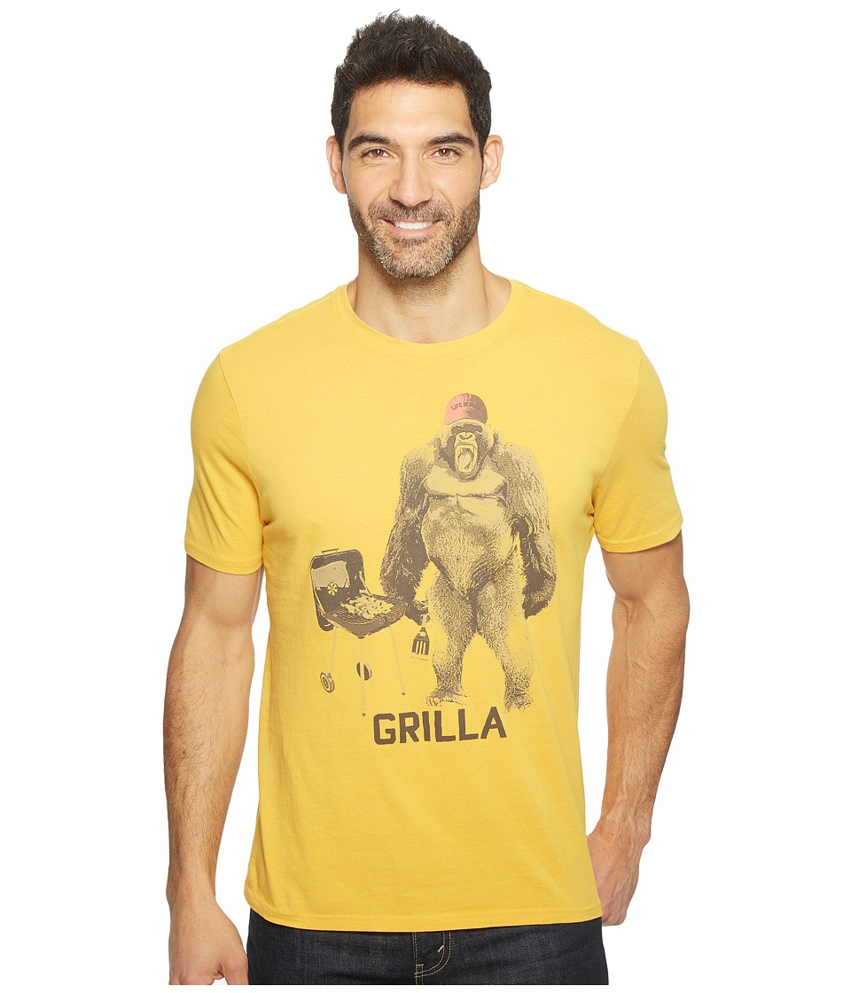 Life is Good - Grilla Gorilla Smooth Tee (Summer Gold) Men's T Shirt