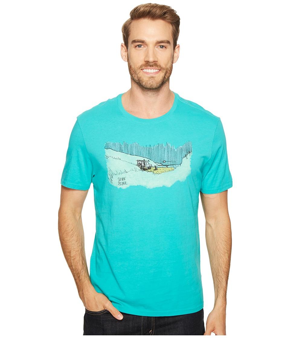 Life is Good - Patrol Beach Smooth Tee (Bright Teal) Men's T Shirt