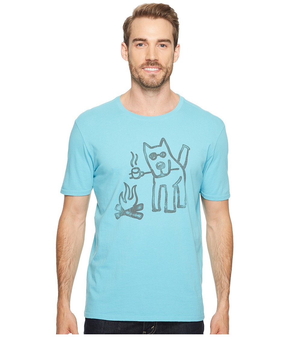 Life is Good - Marshmallow Toast Smooth Tee (Bleached Blue) Men's T Shirt