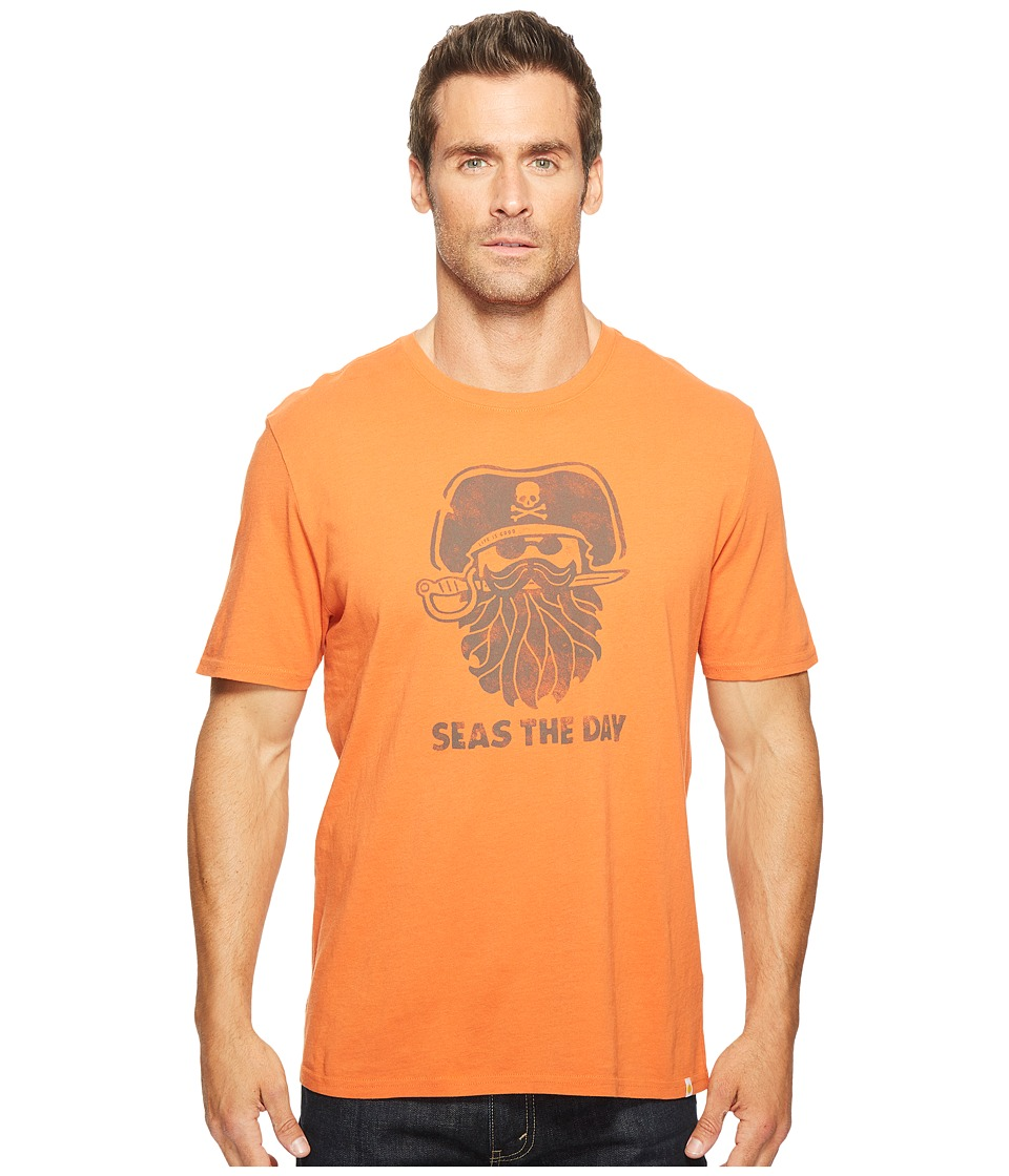 Life is Good - Pirate Day Smooth Tee (Deep Orange) Men's T Shirt
