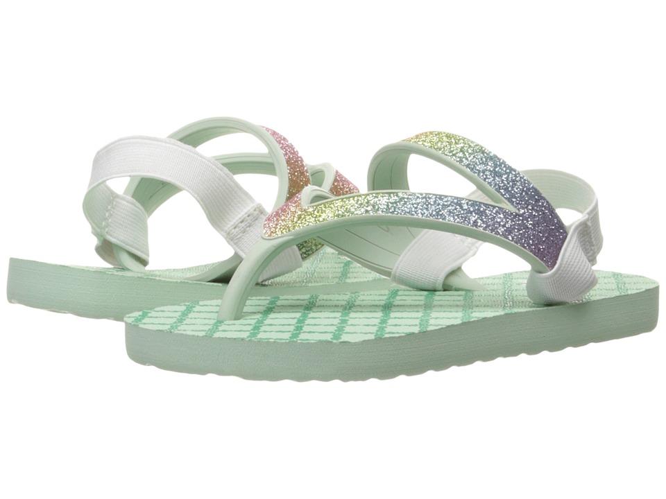Sanuk Kids - Lil Selene Crystal (Toddler/Little Kid) (Rainbow/Misty Mint) Girls Shoes