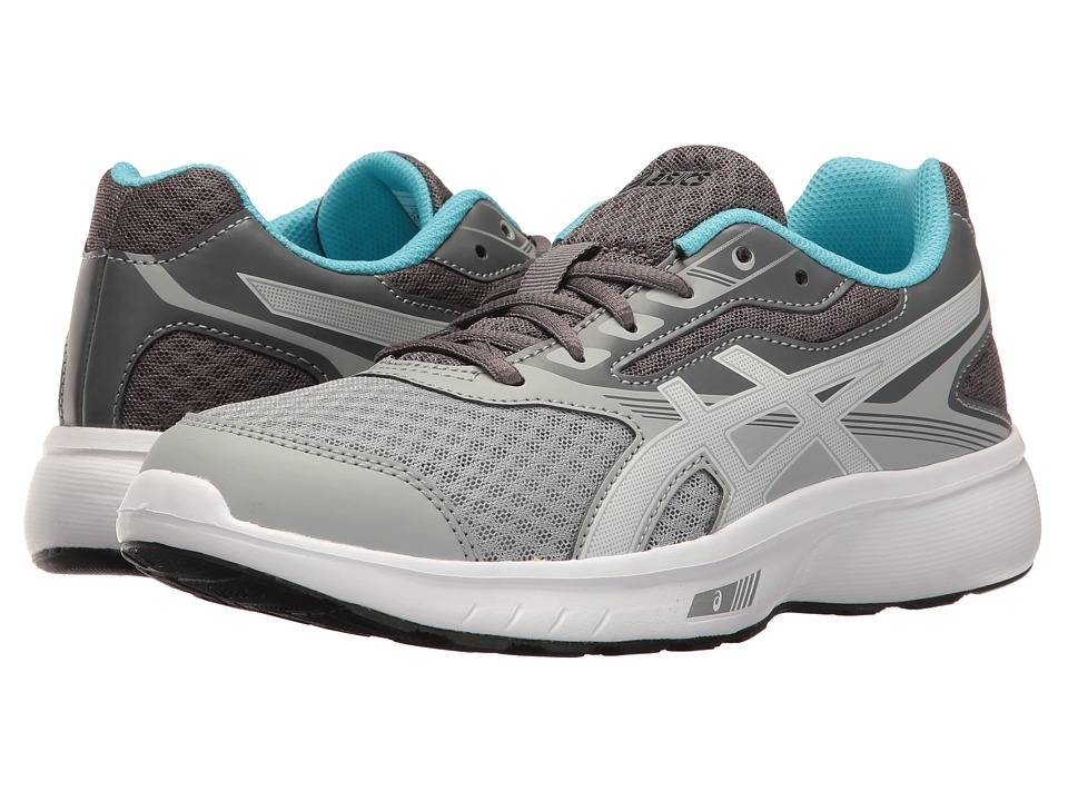 ASICS - Stormer (Mid Grey/White/Aquamarine) Women's Shoes