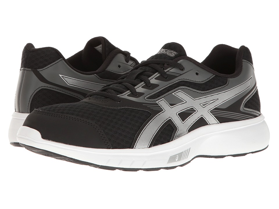 ASICS - Stormer (Black/Silver/White) Men's Shoes