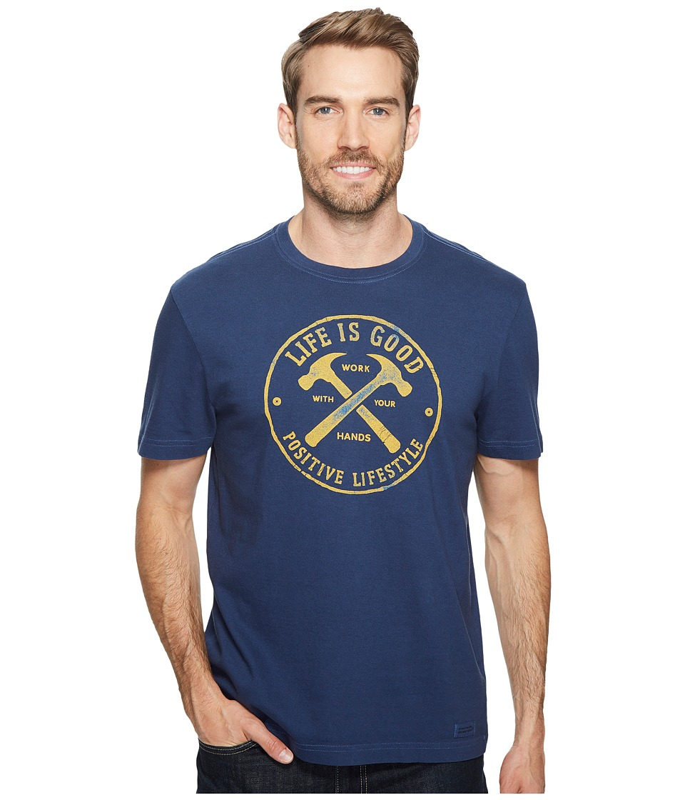 Life is Good - Hammer Crusher Tee (Darkest Blue) Men's T Shirt