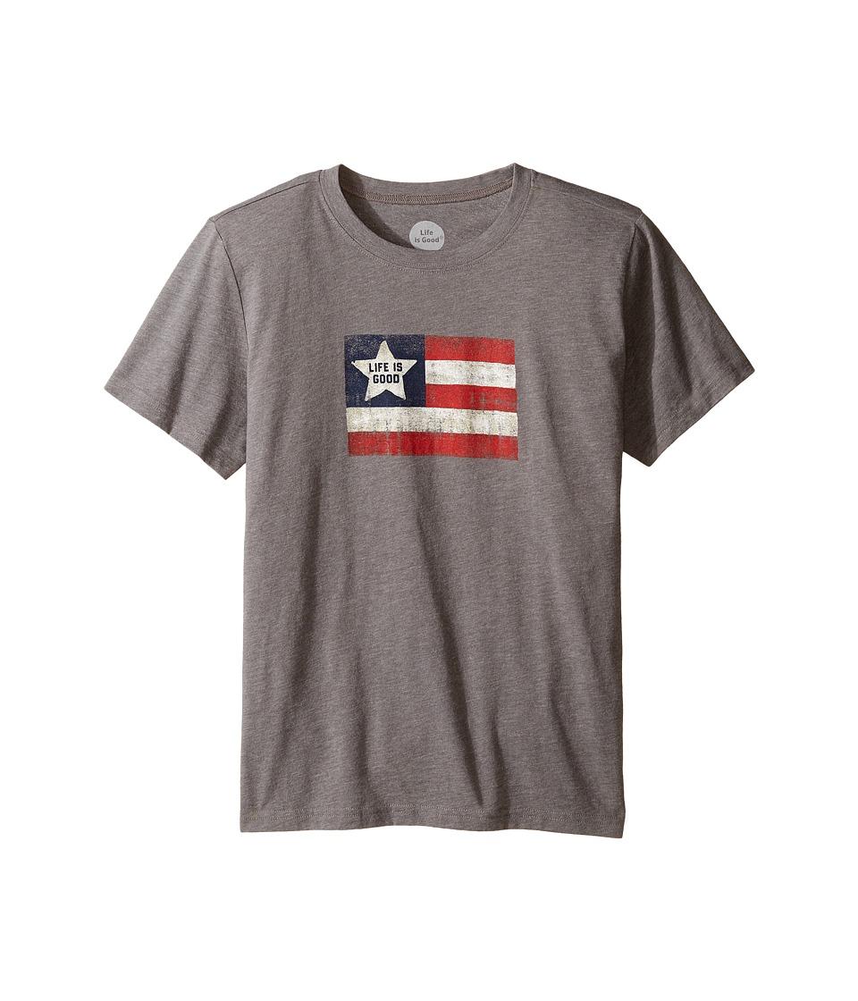 Life is Good Kids - Flag Cool Tee (Little Kids/Big Kids) (Slate Gray) Boy's T Shirt