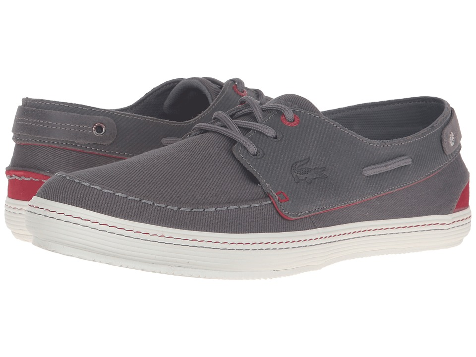 Lacoste - Sumac 10 (Dark Grey/Red) Men