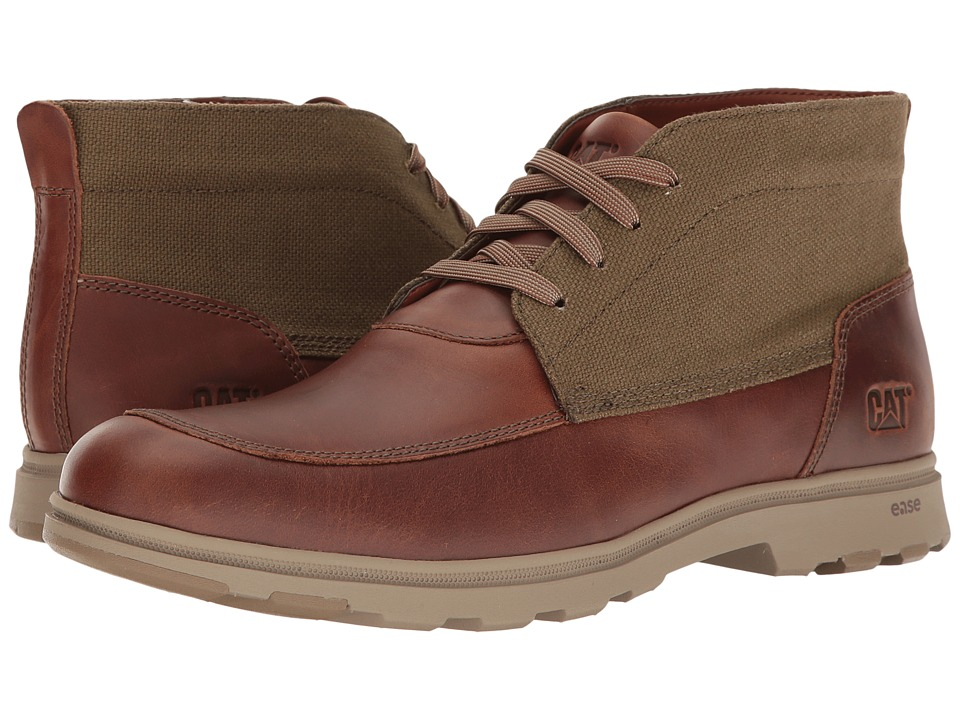 Caterpillar - Carnaby Canvas (Brown Sugar/Olive) Men's Lace-up Boots