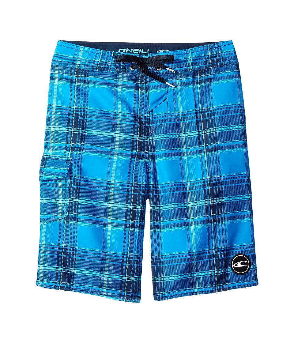 O'Neill Kids - Santa Cruz Plaid Boardshorts (Big Kids) (Navy) Boy's Swimwear