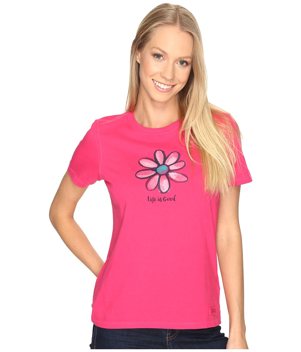 Life is good - Daisy Crusher Tee (Pop Pink) Women's T Shirt