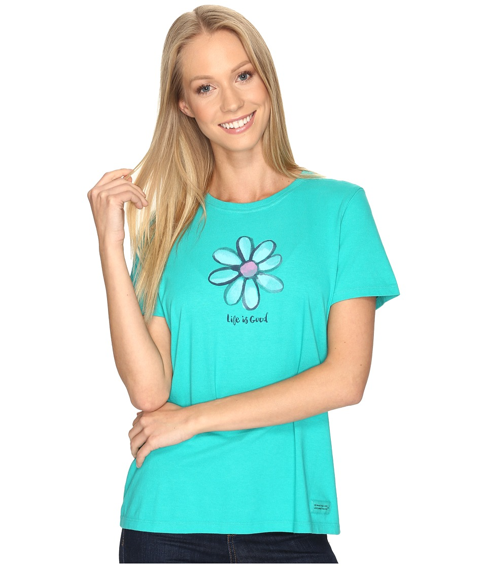 Life is good - Daisy Crusher Tee (Bright Teal) Women's T Shirt