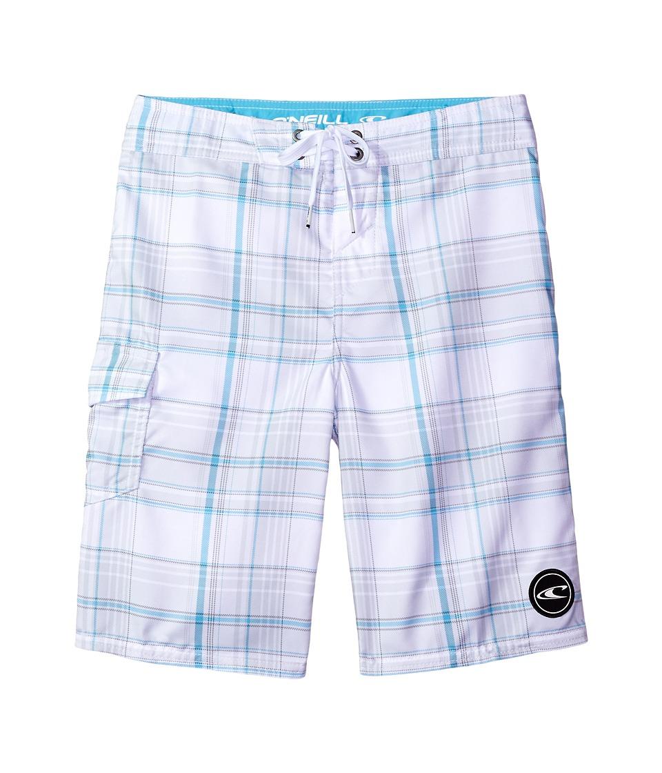 O'Neill Kids - Santa Cruz Plaid Boardshorts (Big Kids) (White 1) Boy's Swimwear