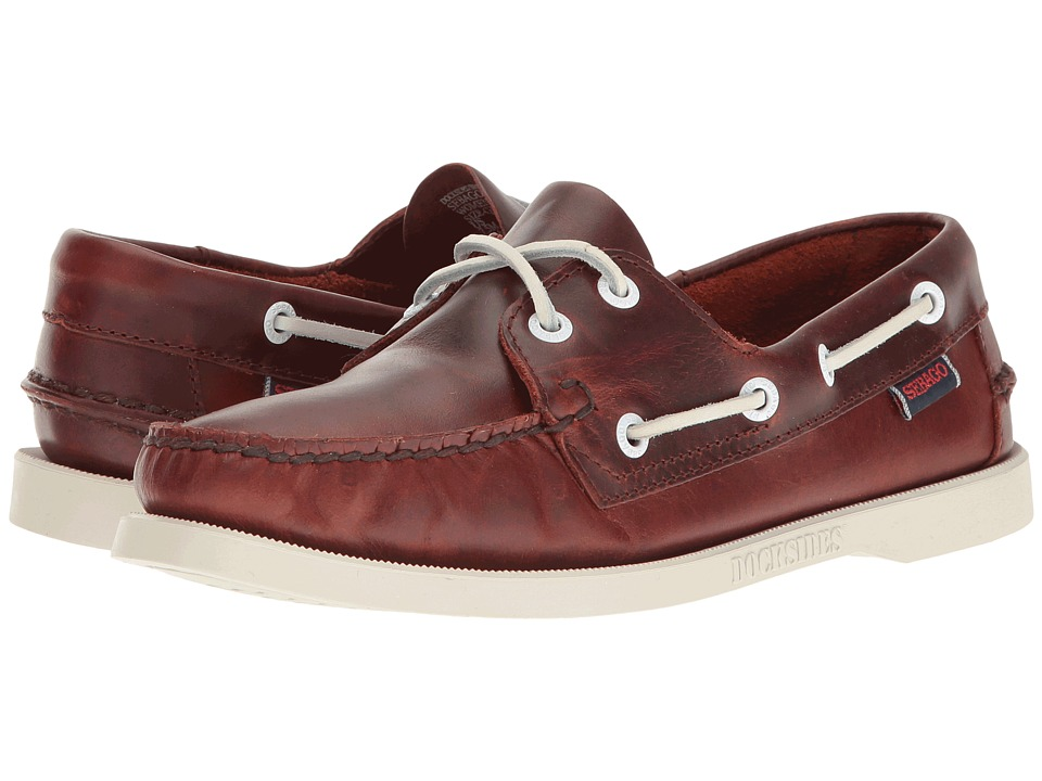 Sebago - Docksides(r) Leather (Brown Oiled Waxy Leather) Women's Lace up casual Shoes
