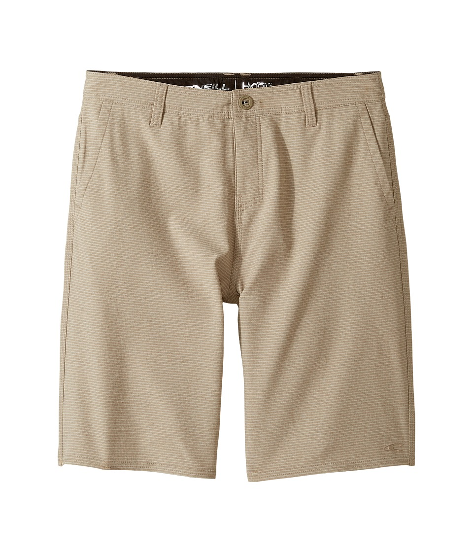 O'Neill Kids - Locked Stripe Hybrid Shorts (Big Kids) (Khaki) Boy's Shorts