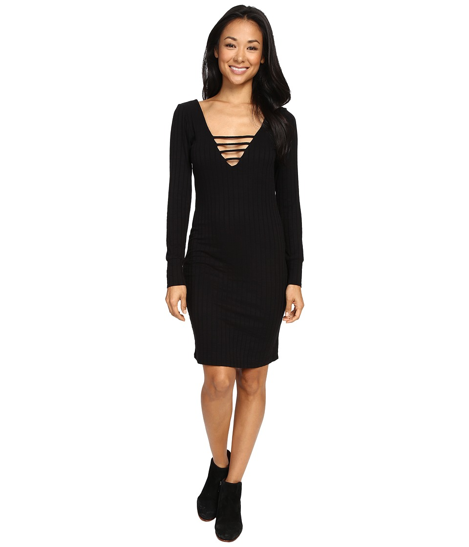 Lucy Love - Long Sleeve Hurricane Dress (Black) Women's Dress