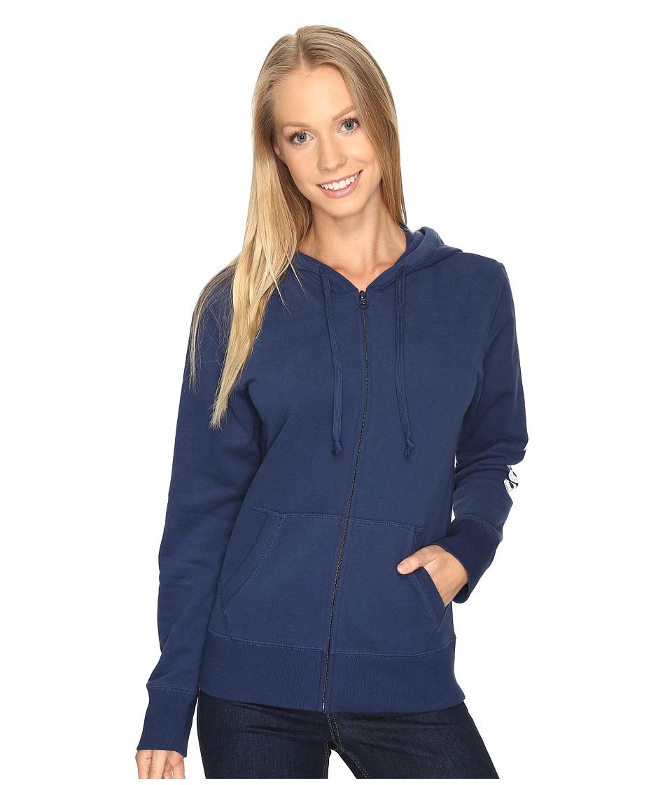 Life is Good - Life is Good(r) Go-To Zip Hoodie (Darkest Blue) Women's Sweatshirt