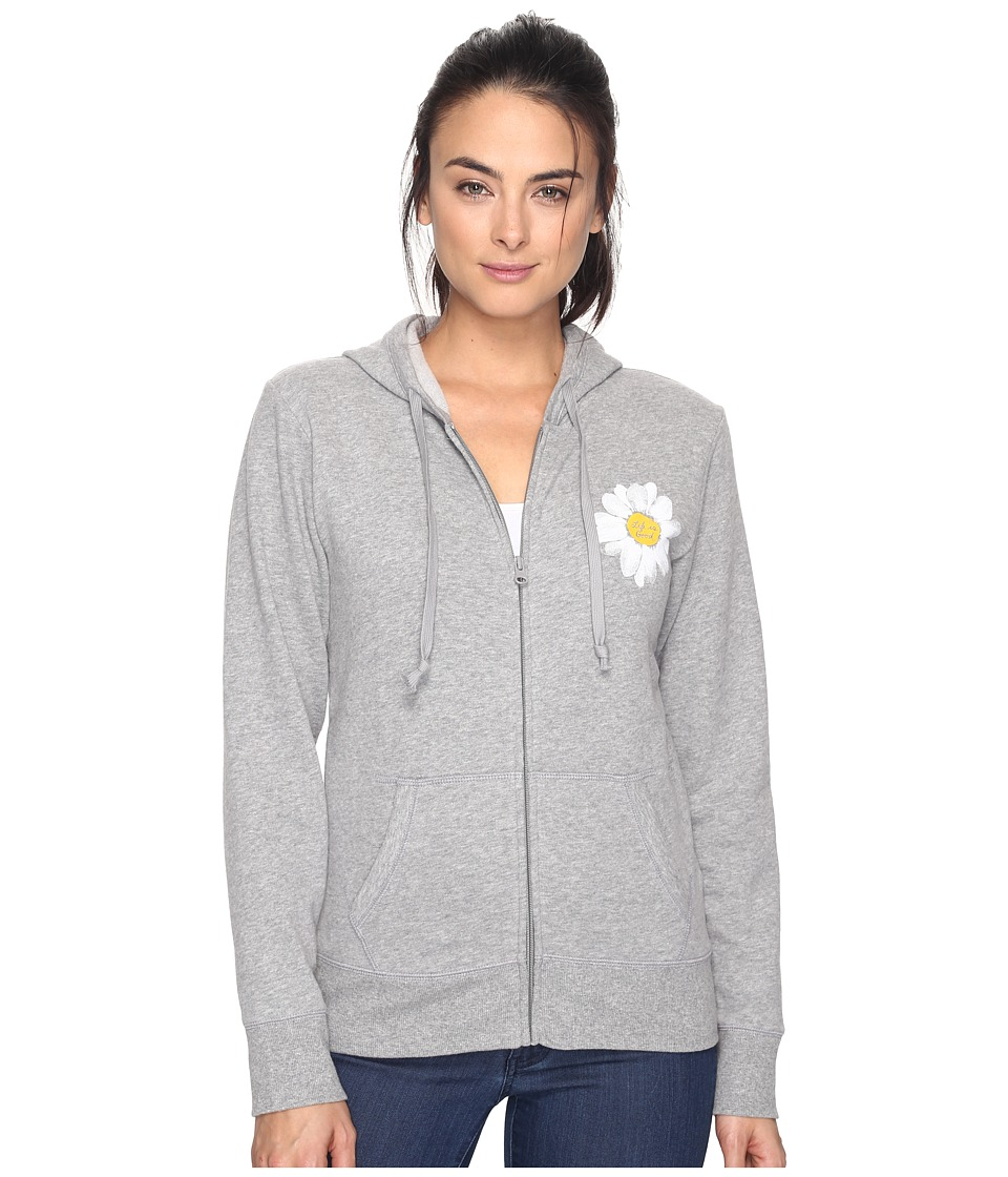 Life is good Daisy Go-To Zip Hoodie (Heather Gray) Women