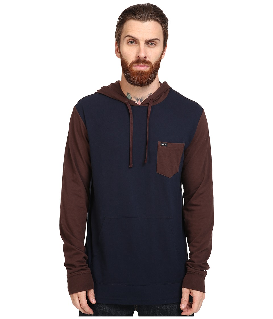 RVCA - Set Up Hoodie (Mid Brown) Men's Sweatshirt