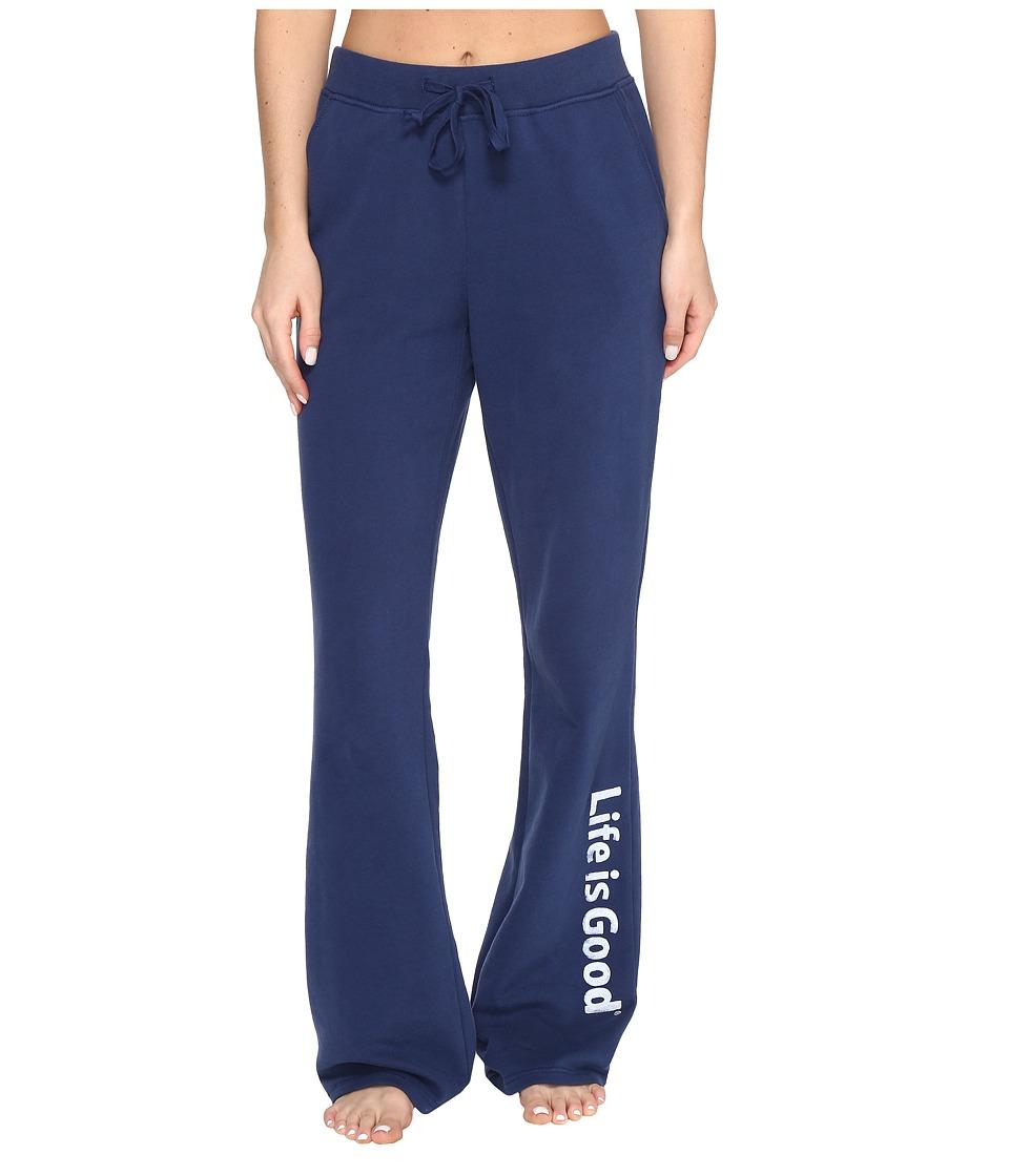 Life is good - Fleece Lounge Pant (Darkest Blue) Women's Casual Pants