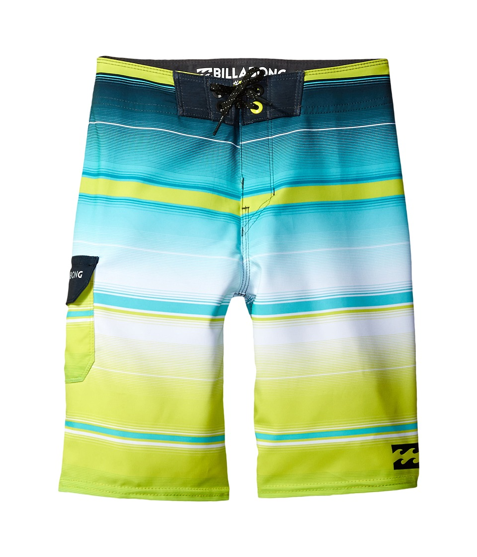 Billabong Kids - All Day X Stripe Boardshorts (Big Kids) (Lime) Boy's Swimwear