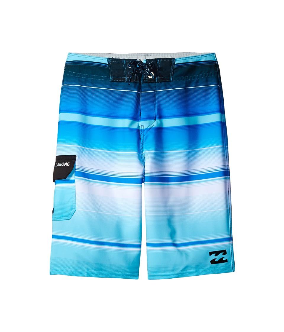 Billabong Kids - All Day X Stripe Boardshorts (Big Kids) (Blue) Boy's Swimwear