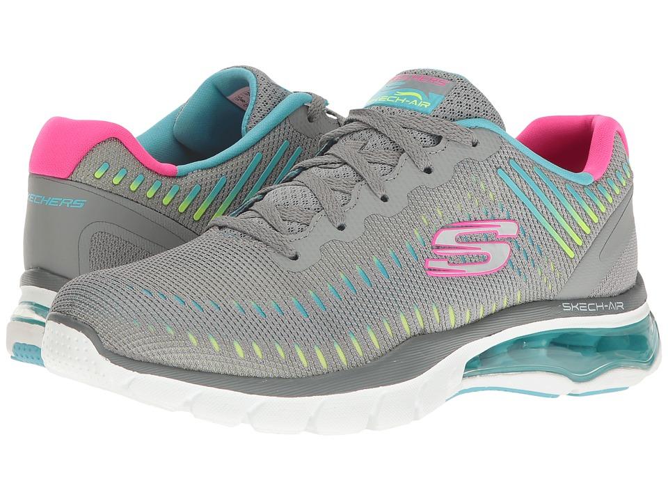 SKECHERS - Skech-Air Cloud (Gray Mint) Women's Shoes