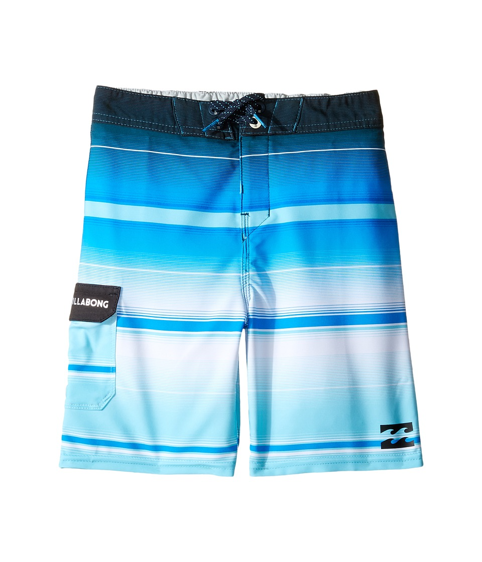 Billabong Kids - All Day X Stripe Boardshorts (Toddler/Little Kids) (Blue) Boy's Swimwear
