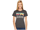 Life is Good - Mountains Sunset Stripe Cool Tee