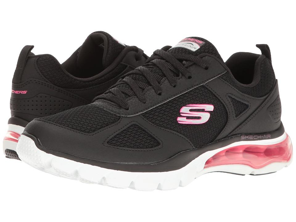 SKECHERS - Skech-Air Cloud (Black/White) Women's Shoes